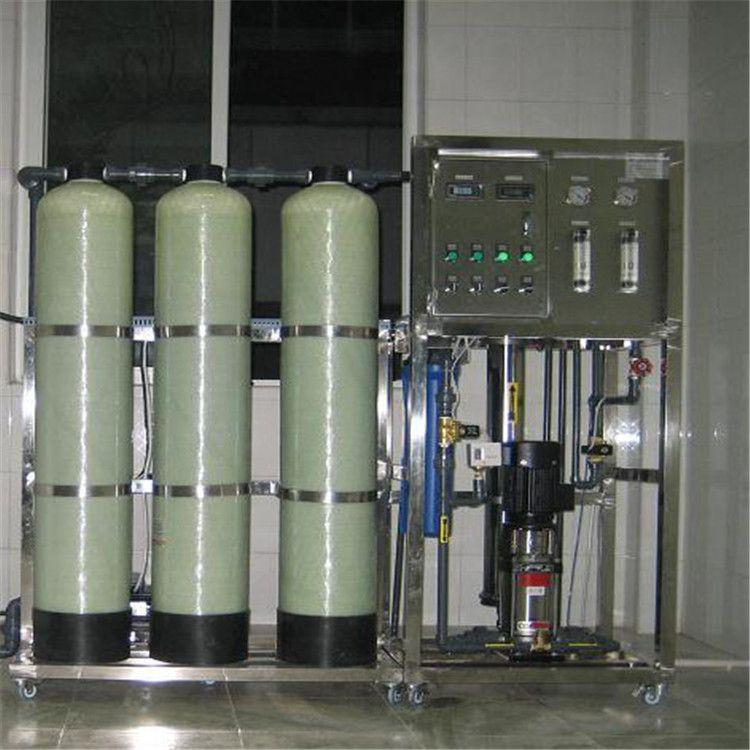500L 小时纯净水桶装水设备  0.5吨小型RO反渗透设备