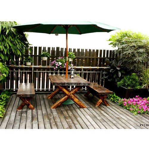 信浴园林景观户外庭院---桌椅防腐木 XY130