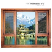 南京兀傲门窗-C85系列金刚网纱窗一体窗