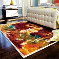 抽象艺术水彩地毯※卧室床边地毯批发※东莞地毯