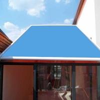 保定遮阳棚保定防晒隔热天幕棚定做玻璃房顶遮阳棚