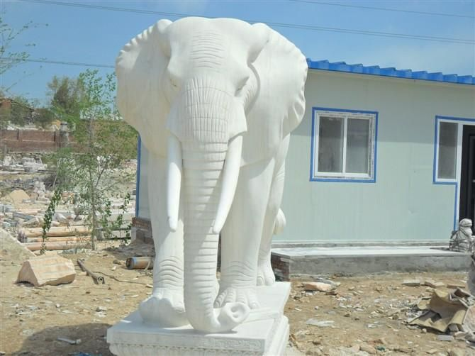 曲阳县宝精品艺林石雕部汉白玉成品打样门口石武汉包装设计大象成型雕刻图片