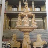 广场石雕喷泉花岗岩喷泉流水水系雕塑摆件