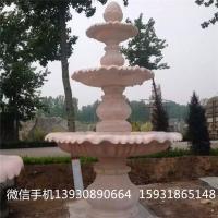 大理石石雕喷泉 招财流水喷泉石雕摆件 喷泉雕塑