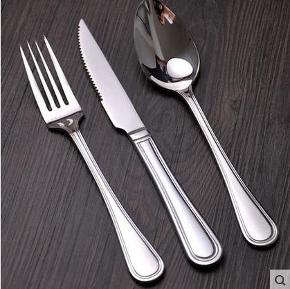 [西式风格]  高档不锈钢刀叉勺  西餐餐具三件套