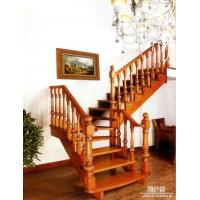 国内高端别墅实木楼梯进口实木凯户祥手工雕刻楼梯LT-001