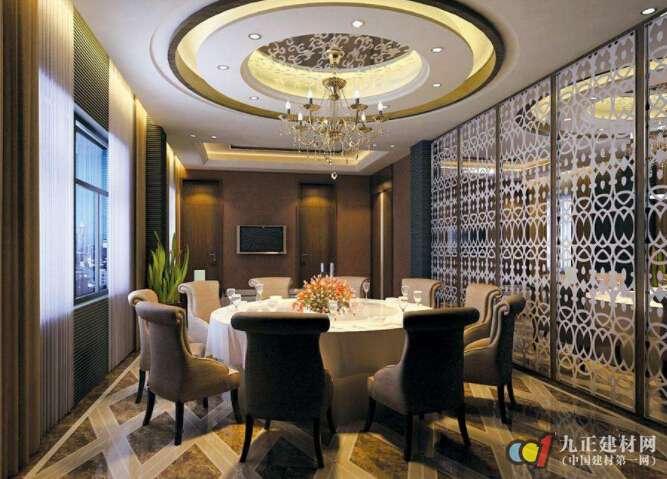 餐厅圆形吊顶