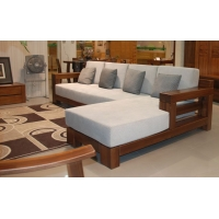 上海实木家具品牌  榆木全套家具  榆木转角沙发