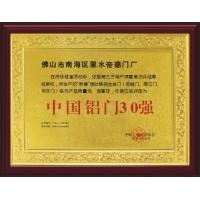 中国铝门30强