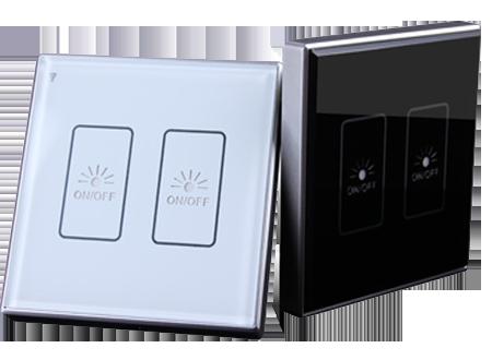 智能屋:开关面板315MHz(86型)单向通信