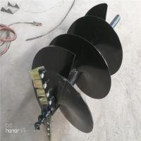 挖坑机螺旋地钻,钻头,螺旋杆规格定制厂家直销