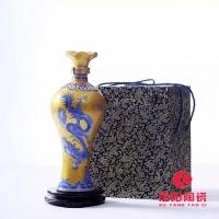 大红陶瓷酒瓶定做 大红陶瓷酒罐定做