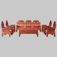 港龙红木家具大象头沙发花梨木客厅组合家具
