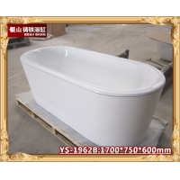 酒店工程首选1.7米独立式铸铁浴缸 保温双层搪瓷浴缸