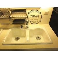 科勒皓兰双槽铸铁厨房水槽