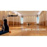 篮球馆专用运动木地板双层龙骨实木运动地板报价