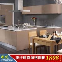北京柏优订制整体厨柜 烤漆大面包门板