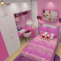 柏优儿童房全屋定制 小孩房间家具组合 床书桌衣柜套装 整体卧