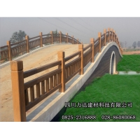 重庆水泥防腐木仿木栏杆/仿木花箱