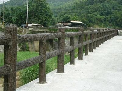 水泥栏杆 仿木栏杆 河道栏杆 水泥仿木栏杆 南京乾润景观工程