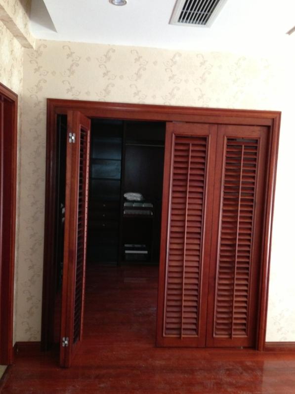 实木百叶门窗 折叠门 活动百叶门窗
