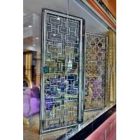 黑龙江不锈钢黑钛屏风 管材无缝焊接 商场装饰
