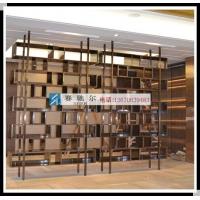 潍城不锈钢博古架  现代时尚不锈钢博古架隔断墙