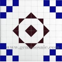 蓝锆宝石马赛克 石材拼图背景墙卫生间墙 餐厅装修