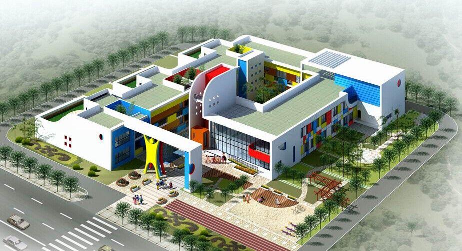 幼儿园园区绿化设计施工图片