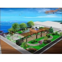 郑州青青屋顶绿化公司园林景观别墅庭院绿化设计