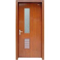 南京木门-星星套装门-半侧百叶玻门