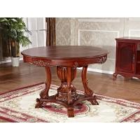 实木餐桌椅组合,纯手工实木雕花餐桌椅