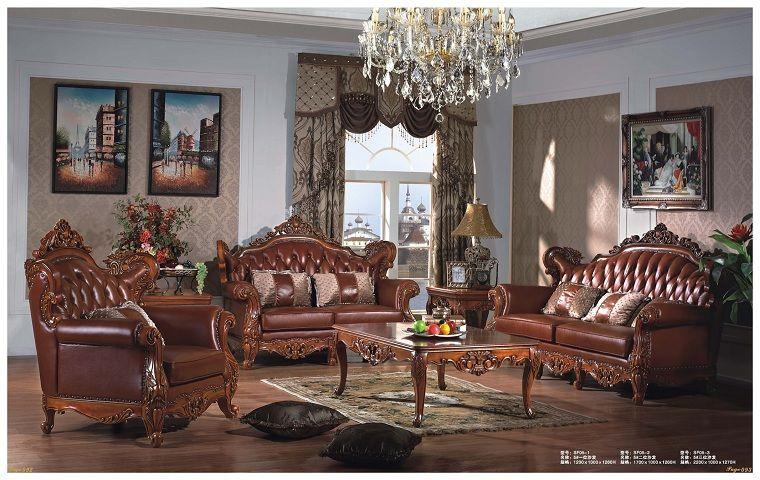 时尚欧式真皮沙发