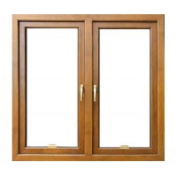供应铝木复合门窗佛山博森特72断桥铝木平开窗