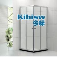 铝合金淋浴房方形对角趟门6-8MM浴室玻璃门