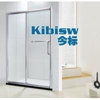 品牌淋浴房定做浴室玻璃移门浴屏一字淋浴隔断卫生间钢化玻璃门