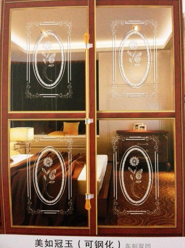 佳汇艺术玻璃车刻双凹阳台隔断门厨房卫生间隔断门