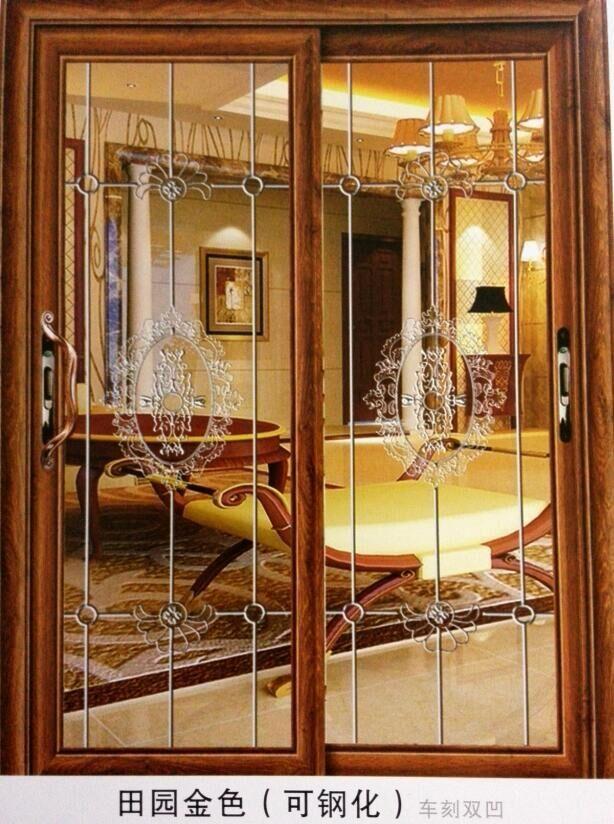 客厅阳台隔断效果图阳台玻璃移门图片,整体是普通透明玻璃,加上磨砂