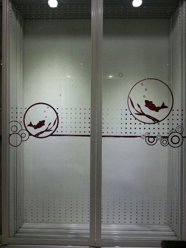 佳汇玻璃隔断门钛金冰花阳台隔断卫生间厨房隔断门