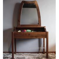 上海黑胡桃全实木高档梳妆台实木梳妆桌化妆镜现代简约