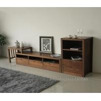 黑胡桃全实木电视柜组合黑胡桃木伸缩电视背景墙客厅家具