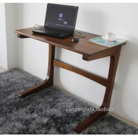 上海北美黑胡桃纯实木写字桌实木小书桌全实木电脑桌简约家居