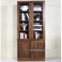 黑胡桃实木书柜全实木书架书厨两用多功能家具