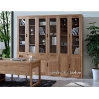 北美黑胡桃全实木书柜3门4门5门6门收纳柜现代简约