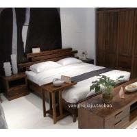 上海黑胡桃纯实木高档双人床全实木家具卧室大床现代简约