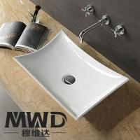 潮州卫浴陶瓷洗脸盆 面盆 超平滑表面 吸水率底 595*39