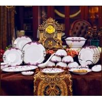 景德镇高中低档陶瓷餐具批发,周年福利礼品餐具定做价格