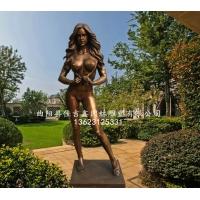 庭院室内欧式装饰性感女郎西洋美女人物铜雕塑摆件