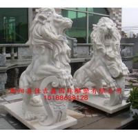 汉白玉欧式镇宅石狮子雕塑