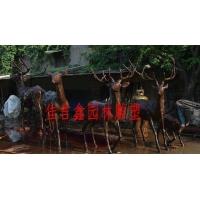 小区庭院广场装饰梅花鹿群雕铜像铜雕动物摆件